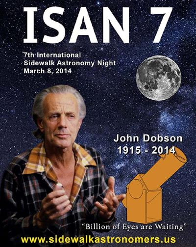 This year, the 7th annual ISAN (International Sidewalk Astronomy Night