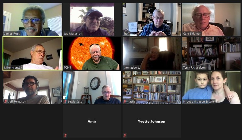 Photo from Virtual Monthly Meeting and Live Sky Tour