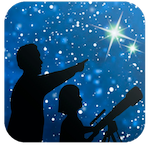 NSN logo featuring a child and adult using a telescope to stargazE