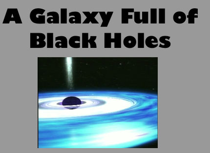 A Galaxy Full of Black Holes (PowerPoint & suggested script)