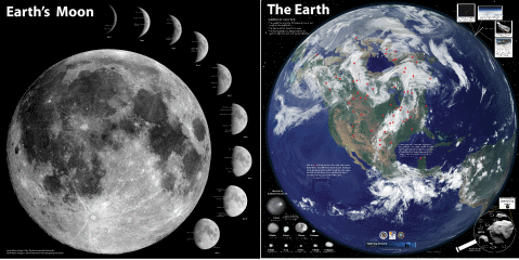 Banner : Earth Craters and Moon Map
