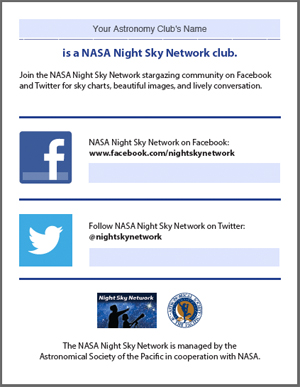 Publicity Flyer: Facebook and Twitter