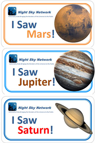 Planet Observing Stickers