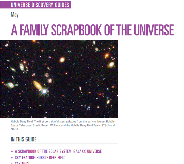 Universe Discovery Guide for May