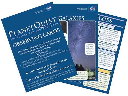 Observing Cards for Star Party Hosts (PDF)