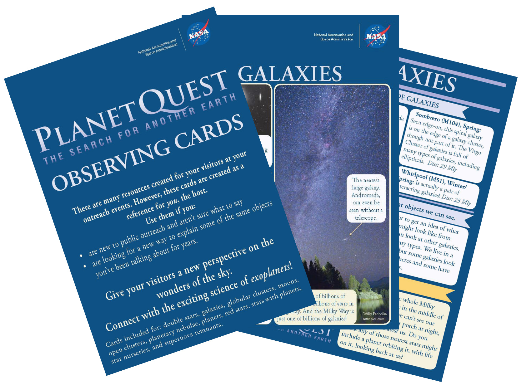 Observing Cards for star parties