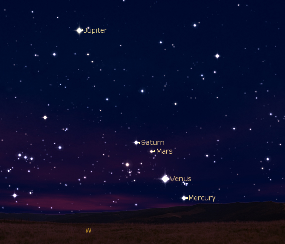 planets and constellations night sky - photo #22