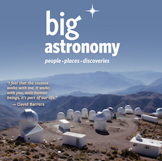 photo of telescope domes on top of a mountain