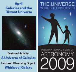~April 2009 IYA Discovery Guide: <br><b>Galaxies and the Distant Universe</b>