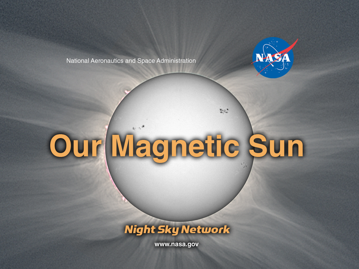logo for the our magnetic sun kit, featuring a white light image of the sun with its corona streaking out
