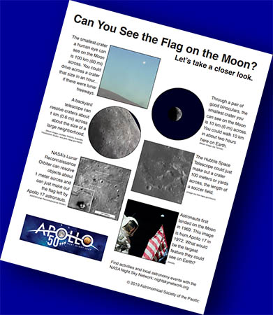 Can You See The Flag On the Moon? Magnification vs. Resolution (Handout and Telescope Activity)