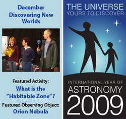 ~ December 2009 IYA Discovery Guide: <br><b>Discovering New Worlds</b>