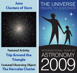 ~ June 2009 IYA Discovery Guide: <br><b>Clusters of Stars</b>