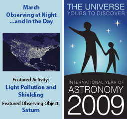 ~March IYA Discovery Guide:<br><b>Observing at Night...and in the Day</b>