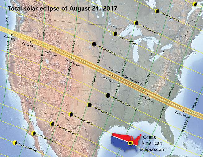 Where Will You Be for the 2017 Eclipse?