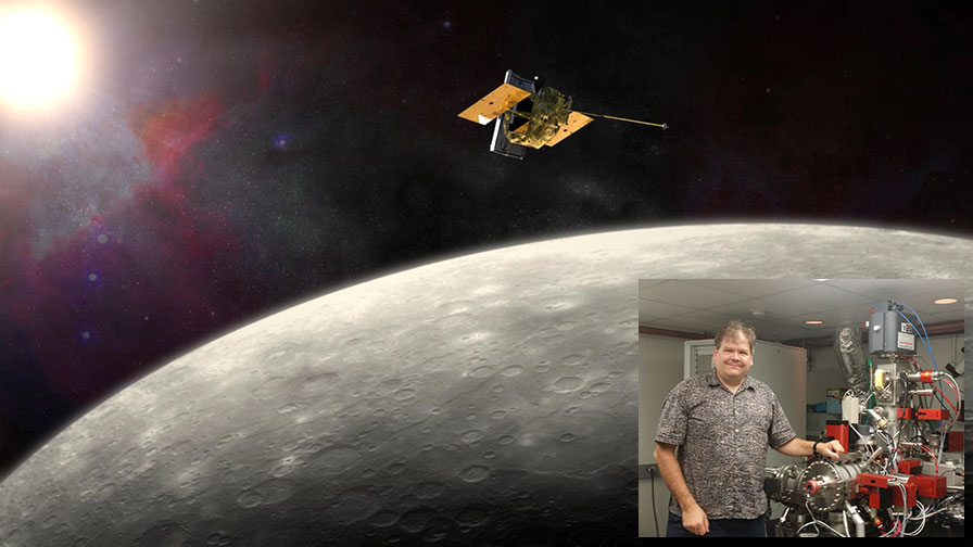 Image of the MESSENGER Probe and Larry Nittler