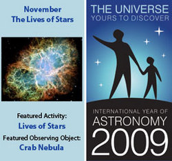 ~November 2009 IYA Discovery Guide:<br><b>The Lives of Stars</b>