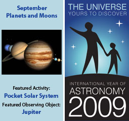 ~September 2009 IYA Discovery Guide:<br><b>Planets and Moons</b>
